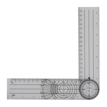 1PC profesjonalny cm cal multi-linijka 360 stopni goniometr kąt kręgosłupa linijka wysokiej jakości tanie i dobre opinie DANIU NONE CN (pochodzenie) Professional Multi-Ruler