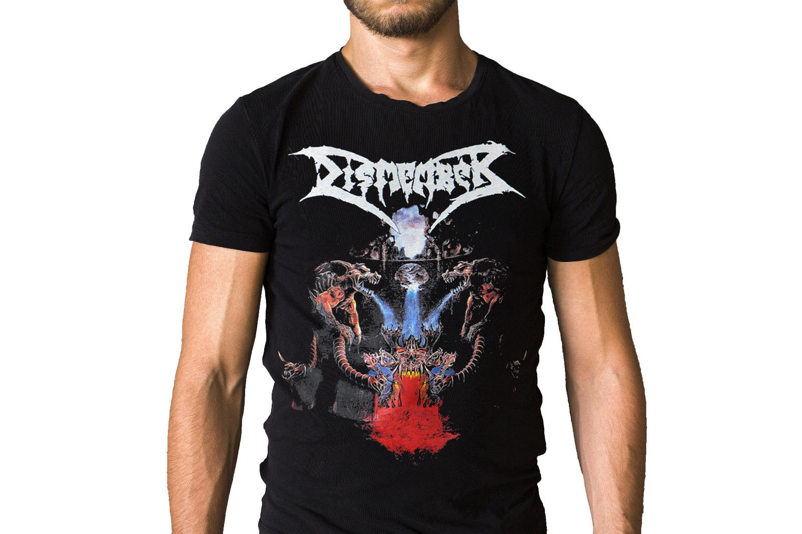Dismember Like An Ever Flowing Stream 1991 Album Cover T-Shirt New Mens Spring Summer Dress Short Sleeve Casual image