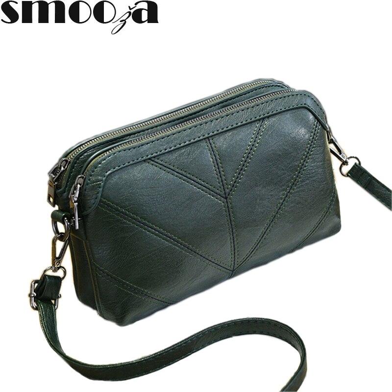 SMOOZA 2019 de alta calidad bolso de mano de mujer de lujo bolso de mensajero de cuero de pu suave hombro de moda señoras Crossbody Bolsos Mujer Bolsas