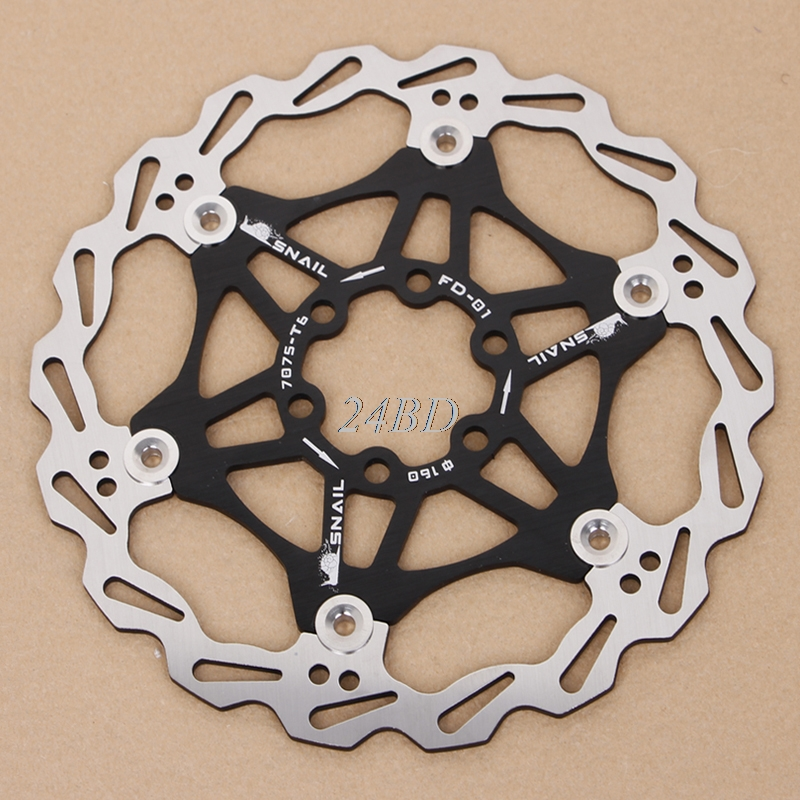 цена на Bicycle Mountain Bike MTB Brake Float Floating Disc Rotors Plate 160mm S21