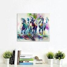 AAVV настенный плакат большого размера пять бегущие лошади картины домашняя декоративная настенная наклейка картина для гостиной картина без рамки
