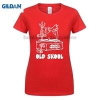 GILDAN T-Shirt homme 2018 Yeni Kollu Harajuku Musica Rave Trance Dj Danza Old Skool Tops O-Boyun Güneş Işığı kadın T-Shirt