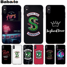 Babaite American TV Riverdale Painted LOGO Phone Case For iphone 7 7plus X 8 8plus And 5 5s 6s 6s Plus Mobile Phone Case store painted plastic phone case for iphone 5 5s