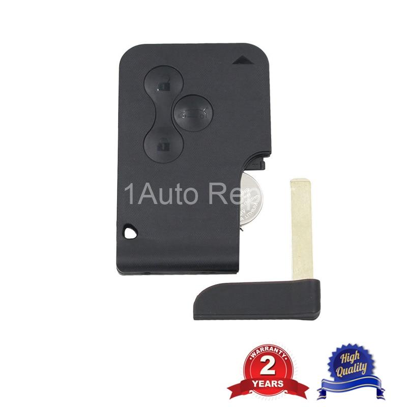 10 шт. Smart Remote Key Card 3 кнопки для Renault Megane II Scenic II Grand Scenic 2003 2008 PCF7947chip 433 МГц - 4