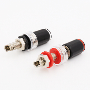 Image 2 - 4PCS B6035R Rhodium Plated HIFI Amplifier Speaker Terminal Binding Post Socket 45mm