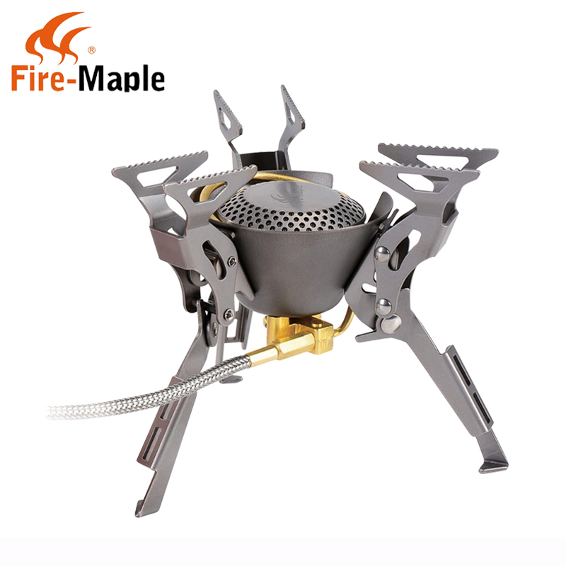 Fire Maple FMS-100T Titanium Gas Stove Split-Type Stove 199g 2450w Picnic Cookware w/ Bag new arrival modern chinese style bamboo wool lamps rustic bamboo pendant light 3015 free shipping