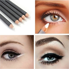 5Pcs/set Waterproof Eyeliner White Wooden Smooth Smudge-proof Eye Liner Pencil Makeup Tool