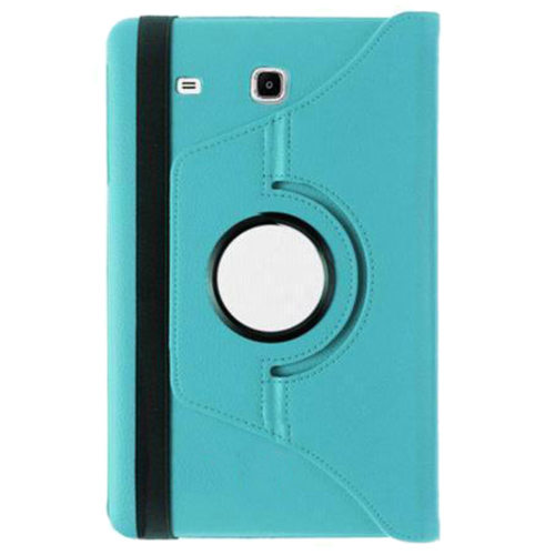 360 Degree Rotating Stand Leather Case With Case for Samsung Galaxy Tab E T560 Color:blue