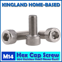 M14 DIN912 Hexagon Socket Head Cap Machine Screws Allen Metric 304 Stainless Steel Bolt HEX Socket