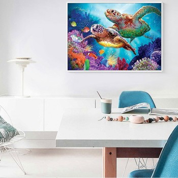 Huacan Full Square 5D DIY Diamond Painting Turtle 3D Embroidery Cross Stitch Diamond Mosaic Animal