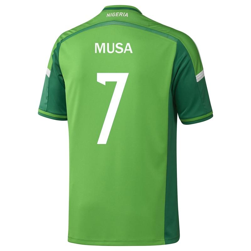 best cheap a0718 daa15 NIGERIA 2014 World Cup Jersey Home Green #7 Ahmed MUSA ...