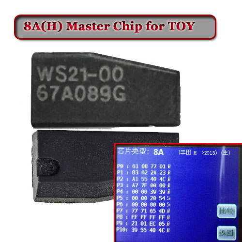 Free shipping 8A 128bit (H)Transponder Chip For TOYOTA key (2pcs/lot) free shipping transponder key shell for tpx gt10 blade for alfa 10 piece lot