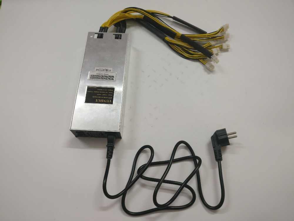 BTC LTC DASH minero de la fuente de alimentación de 1800W para ANTMINER S9 V9 S9i S9j T9 + DR3 E3 Z9 Mini baikal BK-X X10 BK-G28 Innosilicon A9 A10
