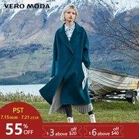 Vero Moda Women's 100% wool double faced woolen overcoat | 318427505