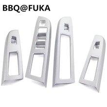 Принадлежности для шашлыков @ fuka подходит для Subaru XV Impreza 2013-16 Chrome ABS межкомнатных дверей кнопка включения окно Панель крышка интерьер наклейка автомобиль-Стайлинг