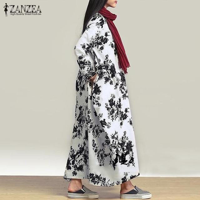 fun comfortable long sleeve print dress 5