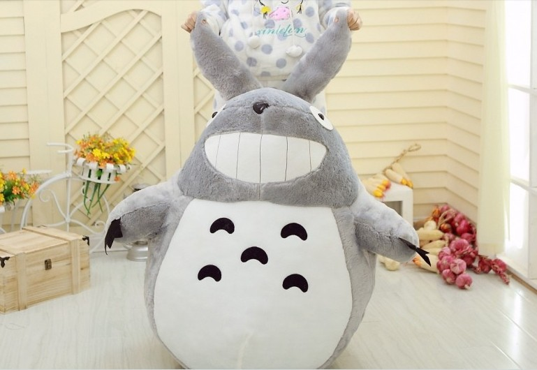 Grand joli jouet en peluche Totoro nouveau cadeau oreiller en peluche style sourire environ 90 cm