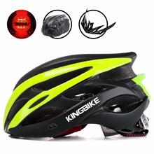 KINGBIKE Ultralight kask rowerowy mężczyźni kobiety kask rowerowy górska droga z daszkiem Helmes bezpieczeństwo Taillight MTB Casco Ciclismo tanie tanio (Dorośli) mężczyzn J-872 J-629 about 237g 20 Formowane integralnie kask capacete para ciclismo capacete ciclismo casco ciclismo
