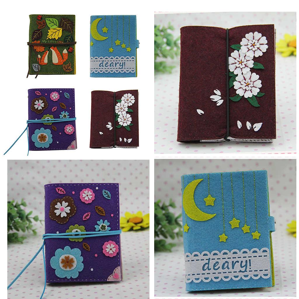 Diy Vilt Ambachtelijke Notebook Naaldvilten Kits Naaien Materiaal Pakket Voor Tieners Meisjes Schoolbenodigdheden