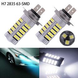Haute qualité 2X 30W H7 63-SMD 2835 projecteur Led phare brouillard/conduite lampe frontale Led lumières ampoules pour voiture antibrouillard