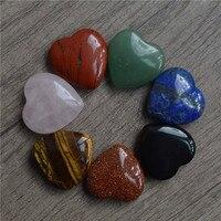 Великолепный драгоценный камень сердца комплект Healing Energy кристалл подарок чакра Кристалл Кварца Сердце комплект