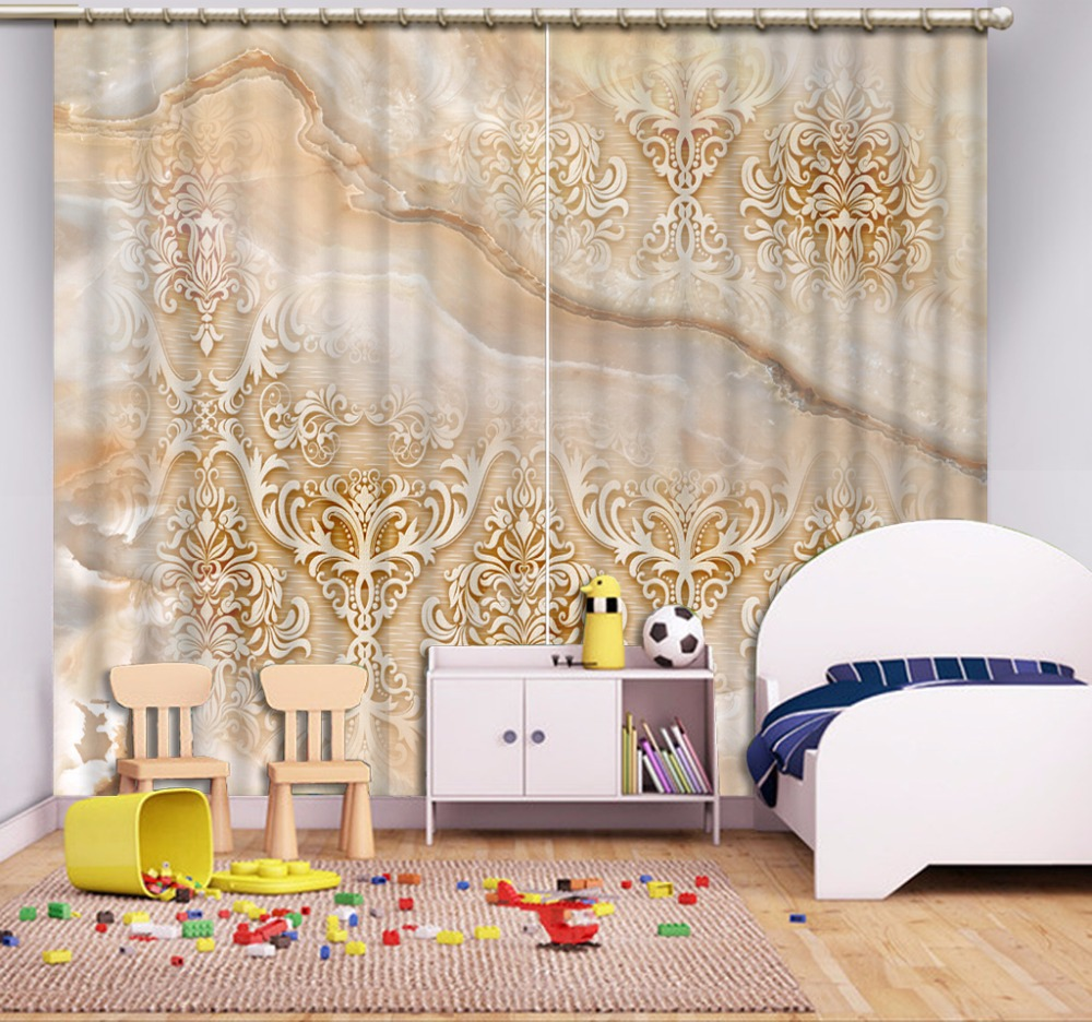 Modern curtain patterns - Custom Any Size Luxury European Modern Europe Pattern Custom Curtain Country Bedroom Curtains China