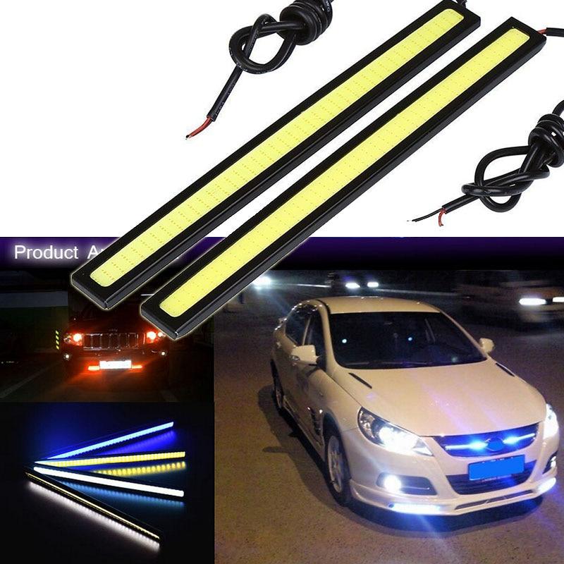 2pcs/lots Ultra Bright 10W 17cm Daytime Running Light 100% Waterproof COB Day Time Lights LED Car DRL Driving Lamp Car Styling