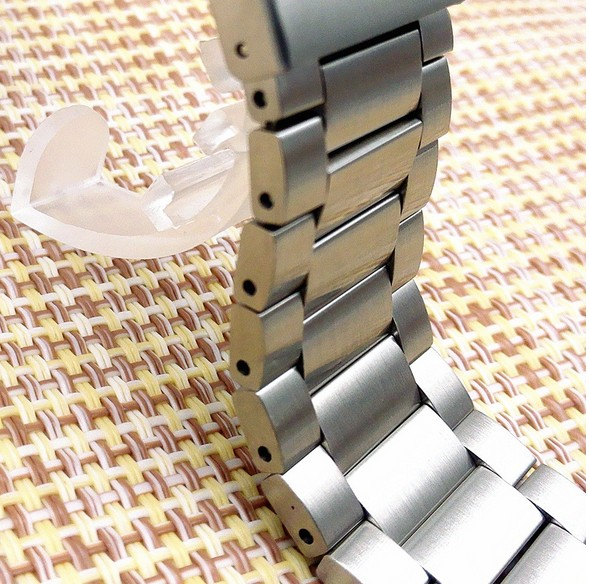 Wholesale 10PCS/lot 23mm High quality Stainless Steel Watch bands Watch straps for Fitbit blaze watch parts-0124WB