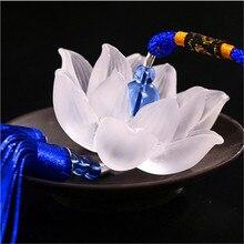 Quartz Crystal Lotus Flowers Hanging Decorations Feng Shui Car Rearview Mirror sino dos ventos dream catcher