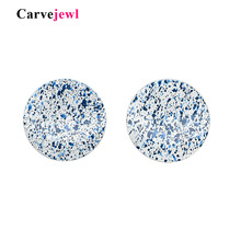 Carvejewl big stud earrings metal round uneven color rich coating for women jewelry new Hyperbole romantic earring