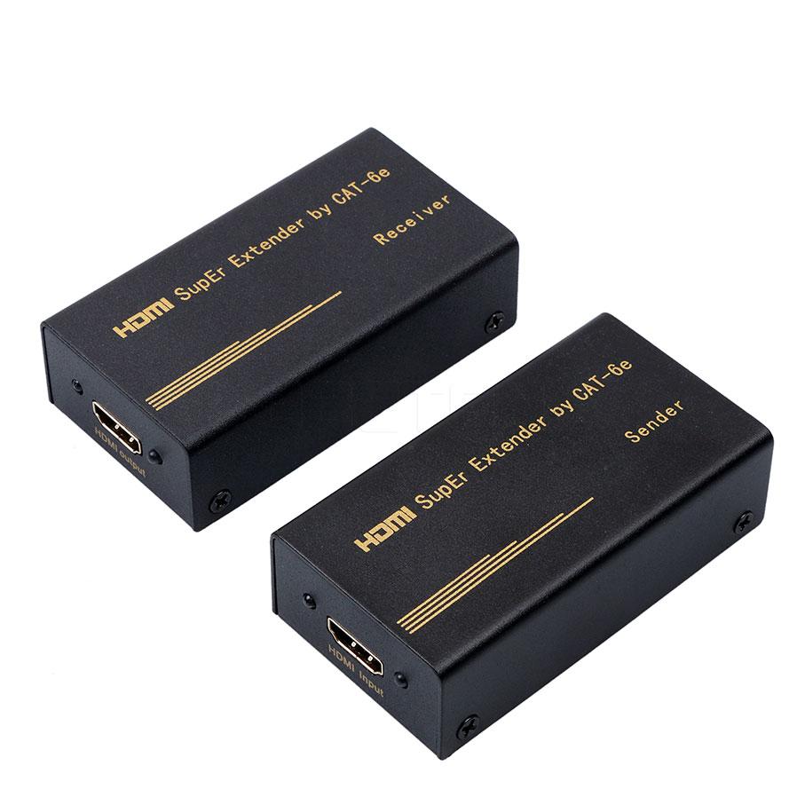 Prix pour HDMI Extender HDMI Émetteur et Récepteur RX TX IR hdmi extender plus Simple Cat 6 UTP Câbles rj45 utp câble US EU Plug