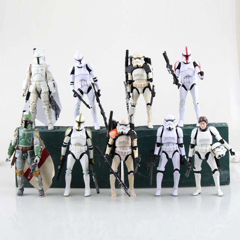 Star Wars The Black Series Sandtrooper Boba Fett Stormtrooper Clone Trooper PVC Action Figure Toy Collectible Model Dolls 15cm