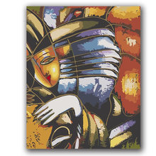 Picasso abstract music painting oil by numbers diy picture drawing coloring on canvas hand wall(China)