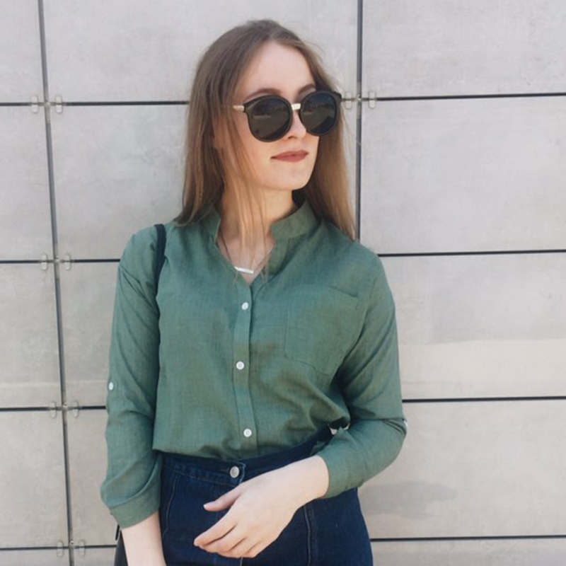 Dioufond Ljeto V-izrez Pamuk Tanke Žene Košulje Tri Četvrt Ženski - Ženska odjeća - Foto 2