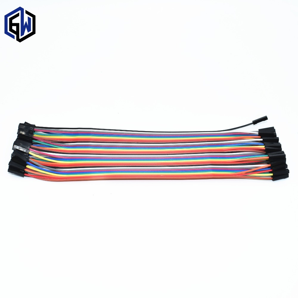 40pcs Dupont Cable Jumper Wire Dupont Line Female To Female Dupont Line 20cm 1P 40P  SKUMM
