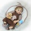 Cuerpo Completo silicona Reborn bebé muñeca juguete 55 cm niño recién nacido bebés muñeca Regalo de Cumpleaños encantador moda Play House Toy chica Brinquedos