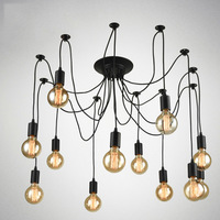 OYGROUP Vintage Loft Spider Chandeliers Nordic Ceiling Lamps 6 8 10 12 14 Heads DIY Home