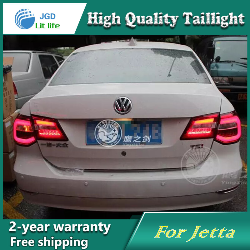 Car Styling Tail Lamp for VW Jetta 2013 Tail Lights LED Tail Light Rear Lamp LED DRL+Brake+Park+Signal Stop Lamp car styling tail lamp for toyota corolla led tail light 2014 2016 new altis led rear lamp led drl brake park signal stop lamp