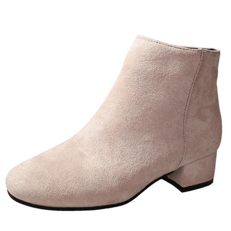 Cremallera Ocasionales Suede 01 Lateral Salvajes Invierno 02 Nuevo Moda 03 Cómodos Las Mujeres Zapatos De Elgeer Botas qPw18nz