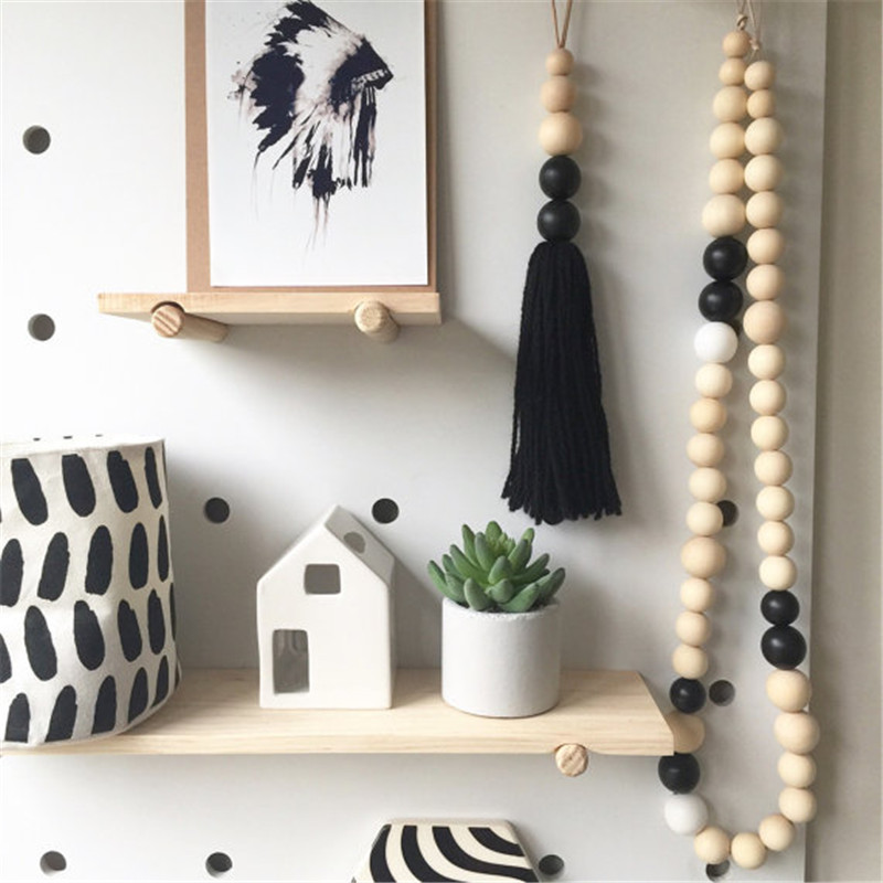 Pinjeas wooden beads garland 40pc home decor M s home decorations