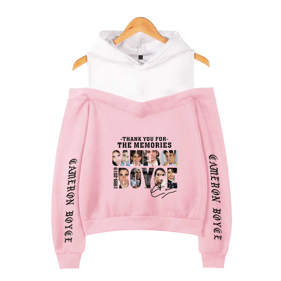 Cameron Boyce print Popular fashion comfortable Basic Street Women Sexy Hoodies Women Casual off-shoulder Hoodies Sweatshirt