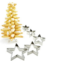 9 Pieces Christmas Tree Cookie Cutter Set 3D Stainless Steel Cookie Cutter Molds Metal Kitchen Bakeware