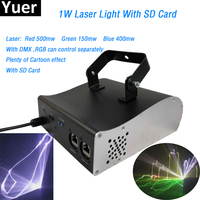 1W Dolphin Laser Lights RGB Animation Laser Light SD Card DMX512 Disco Stage Laser Beam Light for KTV Bar dj professional disco