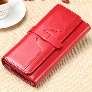 Image 4 - Genuine Leather Women Wallet Luxury Clutch Coin Purse Holders Money Bags Designer Female Wallets Famous Brand Wallet portfolio