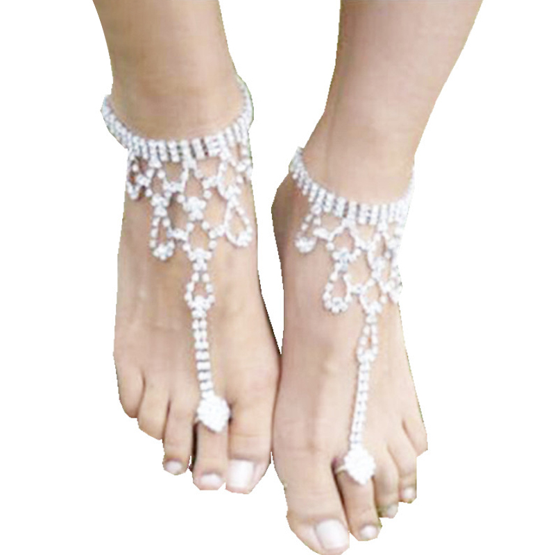 Facebook Hot Anklet Accessories Women Sexy Rhinestone Barefoot Sandals  Crystal Anklet Beach Foot Jewelry 7C0400 1e9cb2958a56