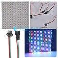 WS2812B панель 16x16 8x32 8x8 пикселей SK6812 цифровая Гибкая Светодиодная панель WS2812B  индивидуальная Адресуемая полноразмерная Dream Color DC5V