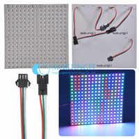 WS2812B panneau 16x16 8x32 8x8 Pixels SK6812 LED Flexible numérique WS2812B panneau individuellement adressable couleur de rêve DC5V