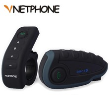 Vnetphone 5 Riders Capacete Cascos 1200M BT Bluetooth Motorcycle Handlebar Helmet Intercom Interphone Headset NFC Telecontrol