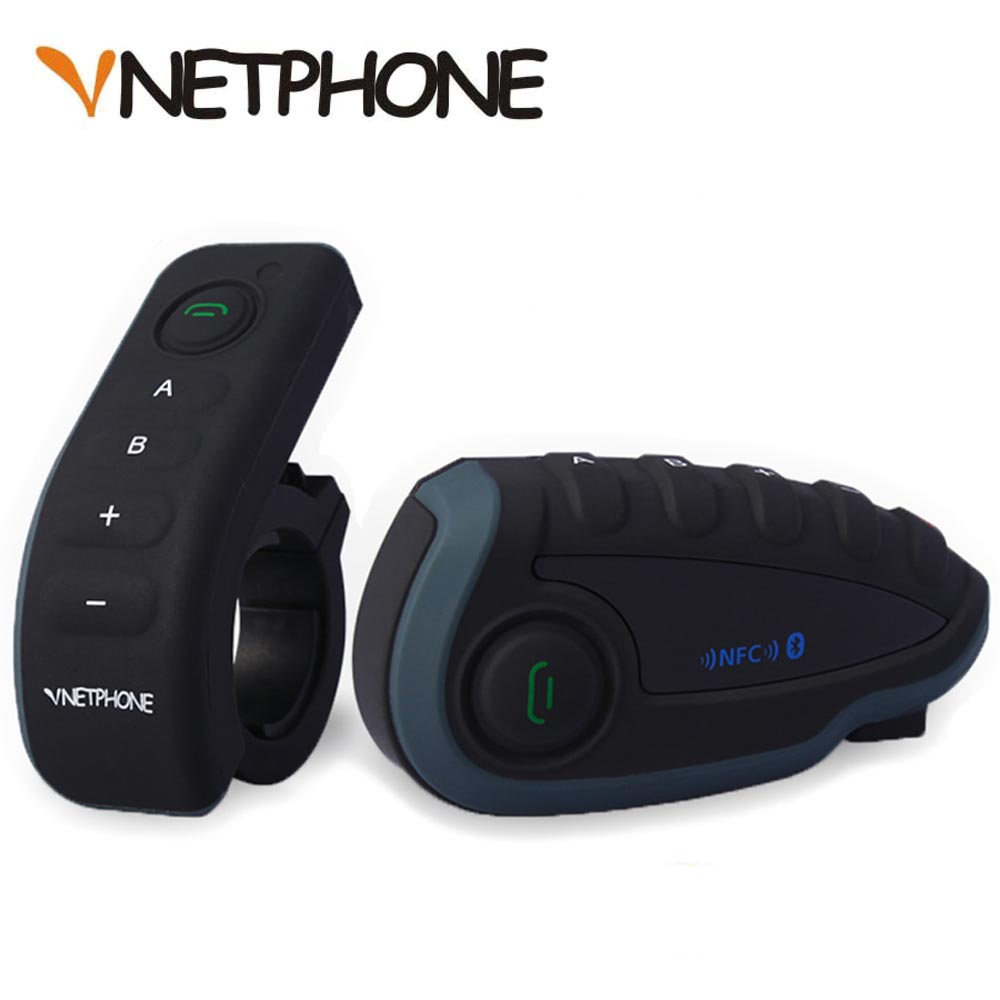 Vnetphone 5 Riders Capacete Cascos 1200M BT Bluetooth font b Motorcycle b font Handlebar Helmet Intercom