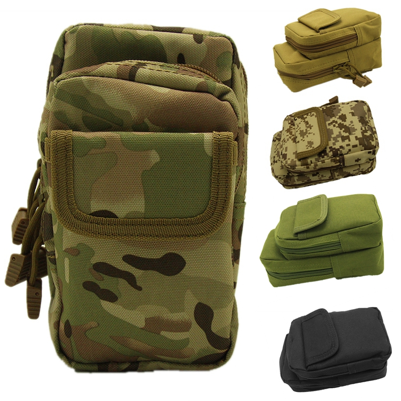 Outdoor Waist Molle Bag Tactical Hunting Airsoft Shooting Magazine Phone Belt Pouch Bag
